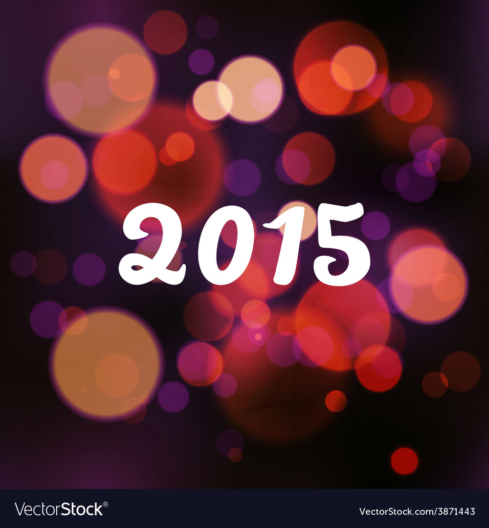 Happy 2015 new year on blurred background vector | Price: 1 Credit (USD $1)