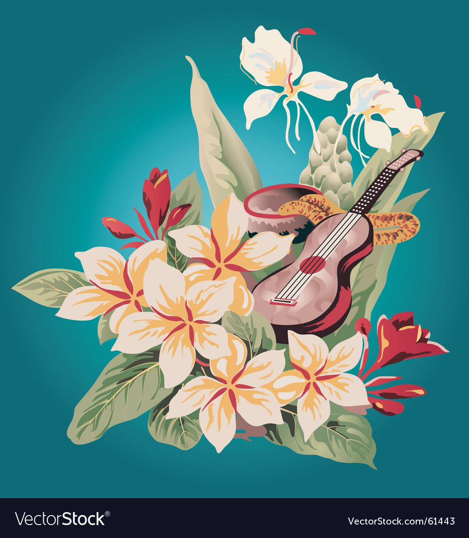 Hawaiian print vector | Price: 1 Credit (USD $1)