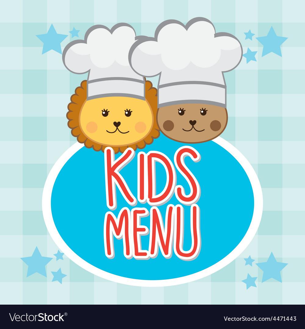 Kids menu vector | Price: 1 Credit (USD $1)