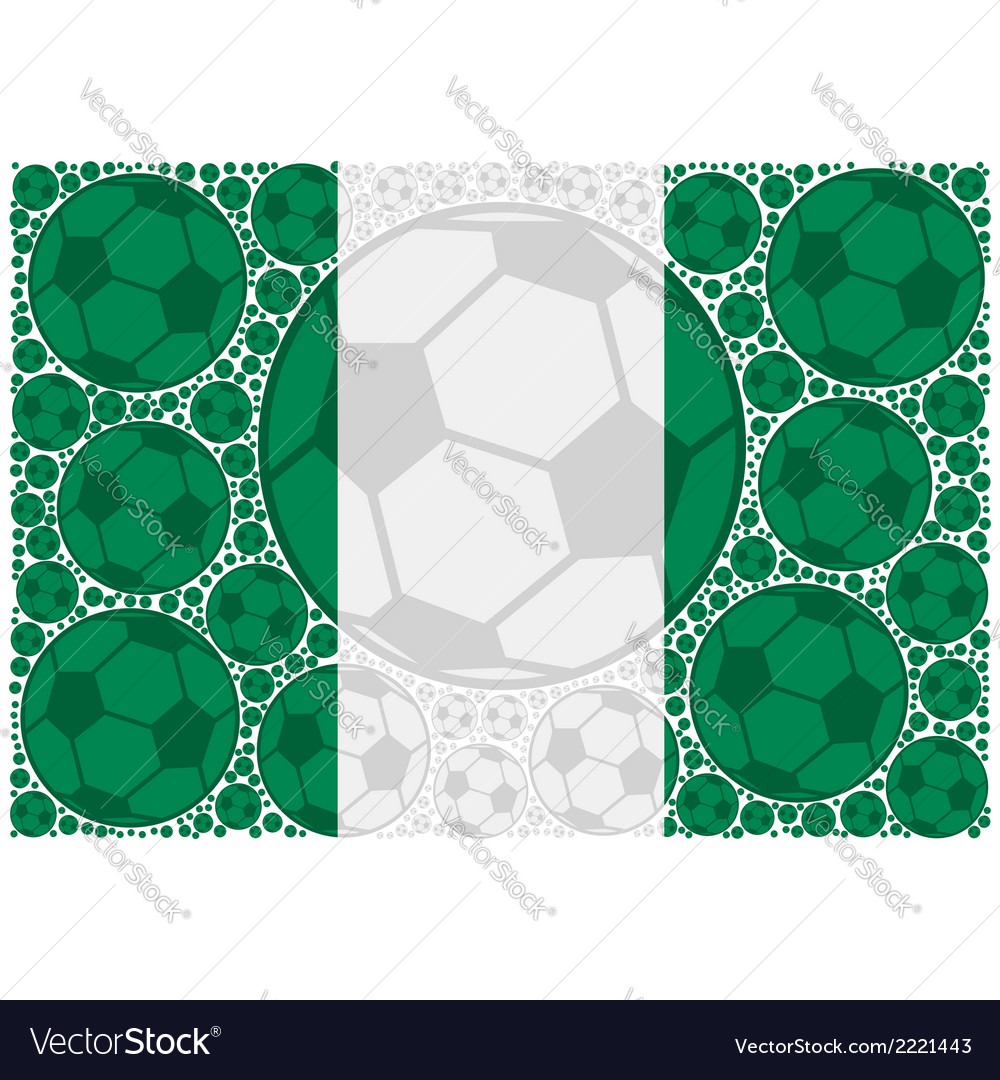 Nigeria soccer balls vector | Price: 1 Credit (USD $1)
