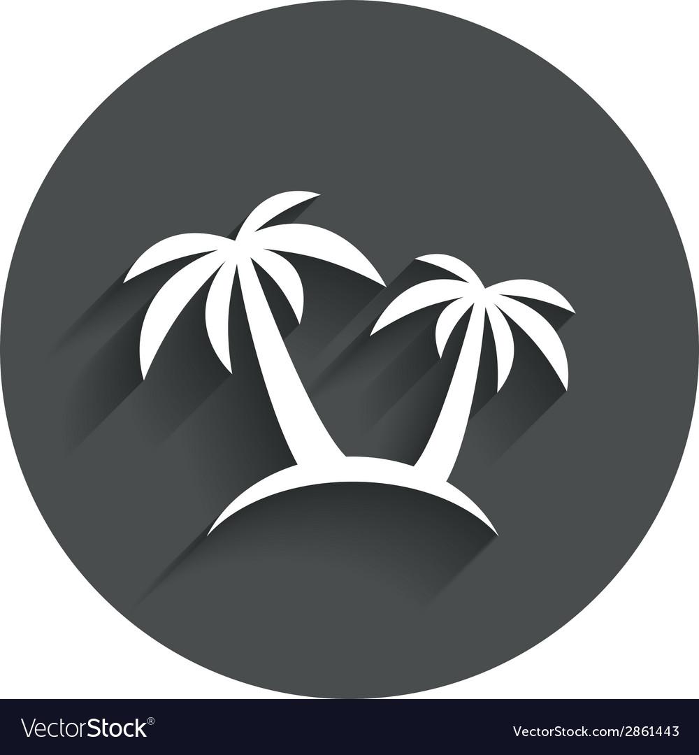 Palm tree sign icon travel trip symbol vector | Price: 1 Credit (USD $1)