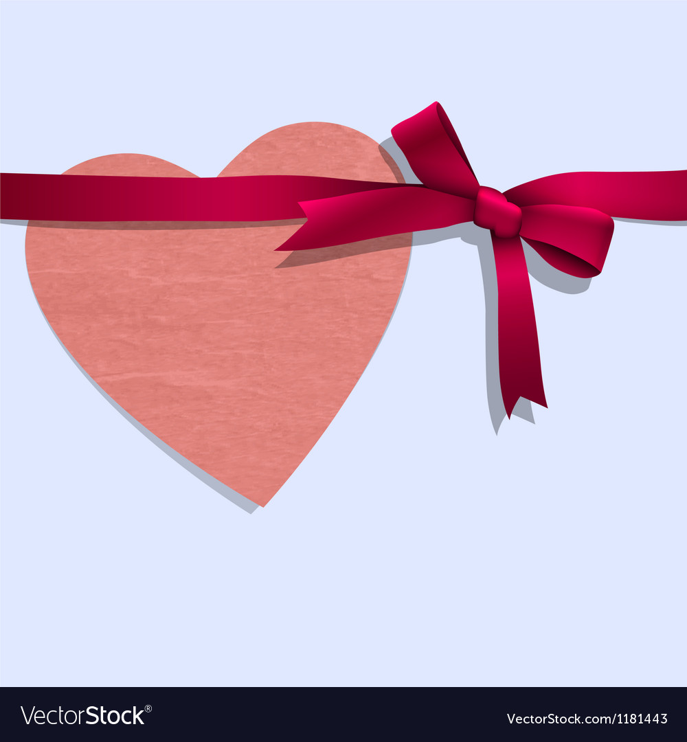 Paper heart with ribbon vector | Price: 1 Credit (USD $1)