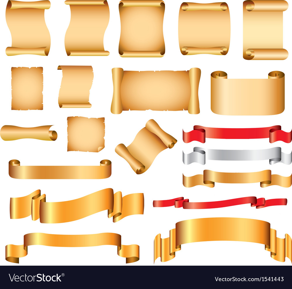 Scrolls set vector | Price: 1 Credit (USD $1)