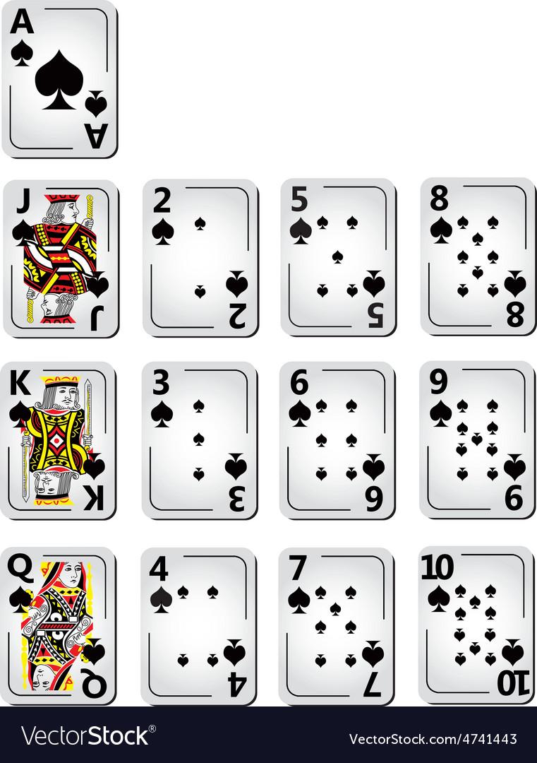 Spade cards full series vector | Price: 1 Credit (USD $1)