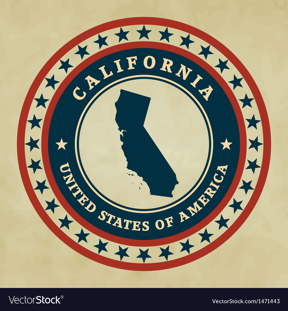 Vintage label california vector | Price: 1 Credit (USD $1)
