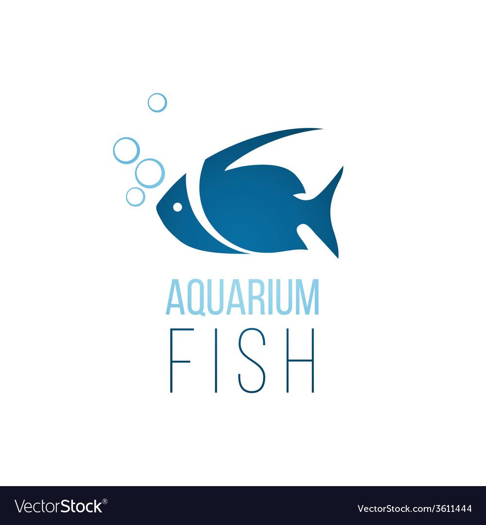 Aquarium fish logo template vector | Price: 1 Credit (USD $1)