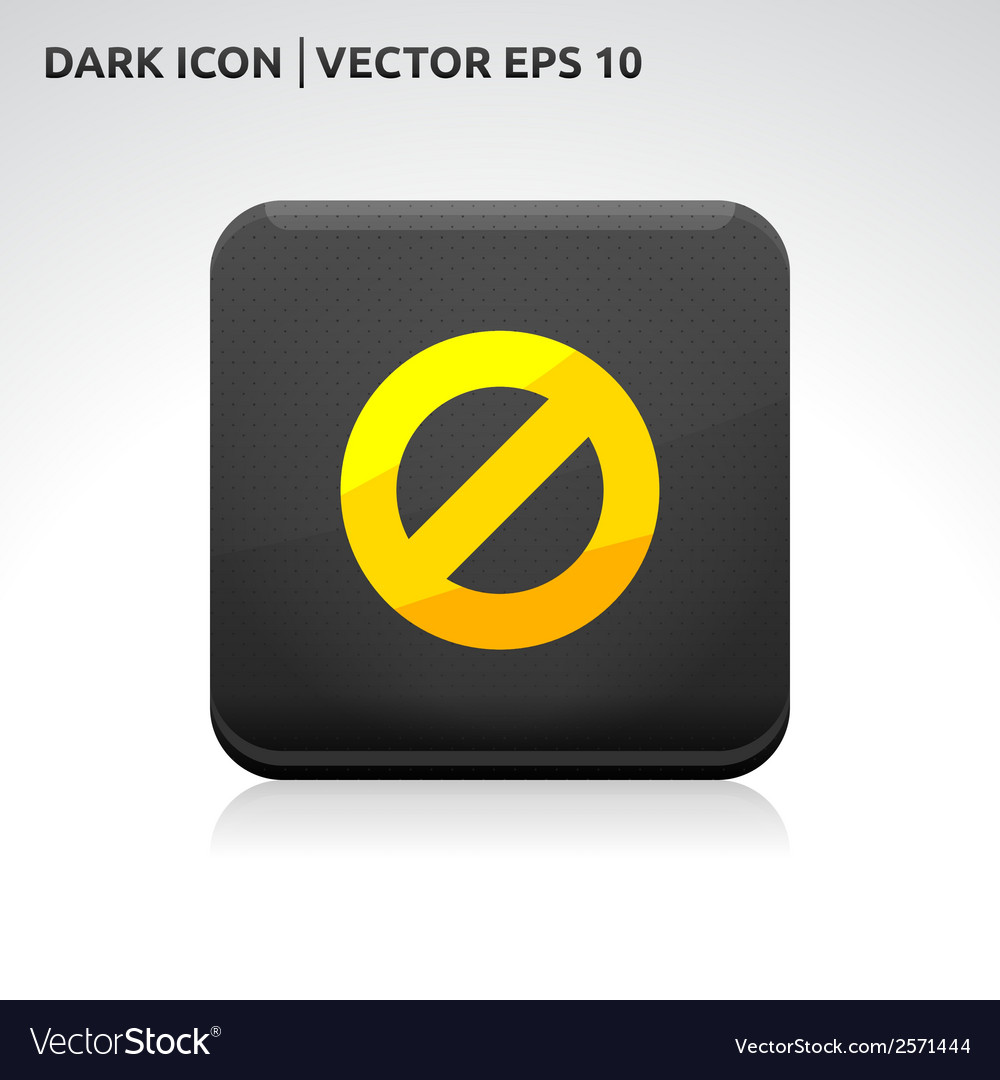 Ban stop icon gold vector | Price: 1 Credit (USD $1)