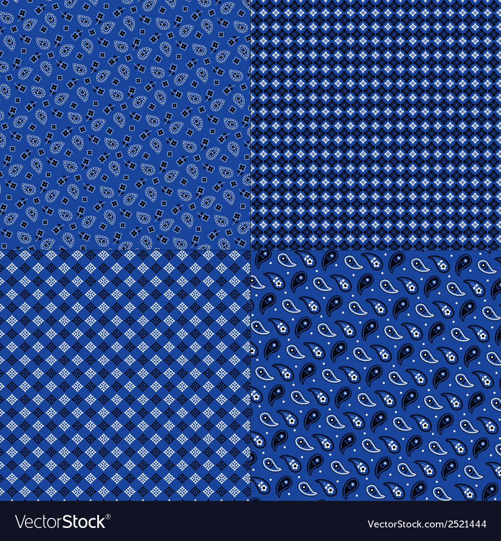 Blue bandana patterns vector | Price: 1 Credit (USD $1)