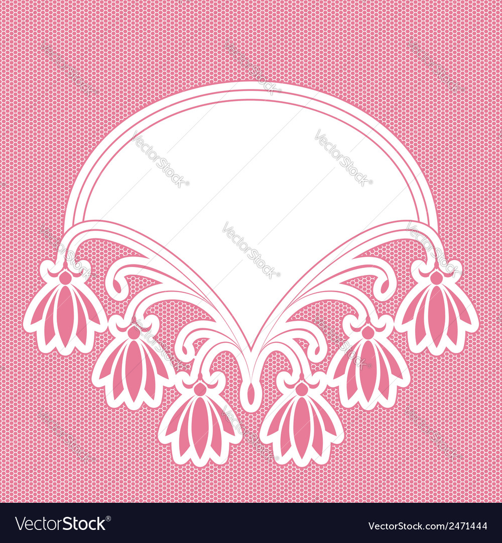Cute floral frame vector | Price: 1 Credit (USD $1)