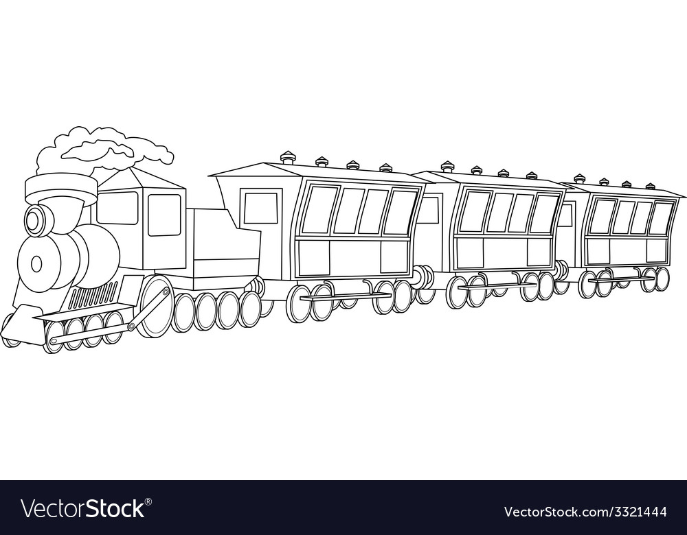 Locomotive vintage style vector | Price: 1 Credit (USD $1)