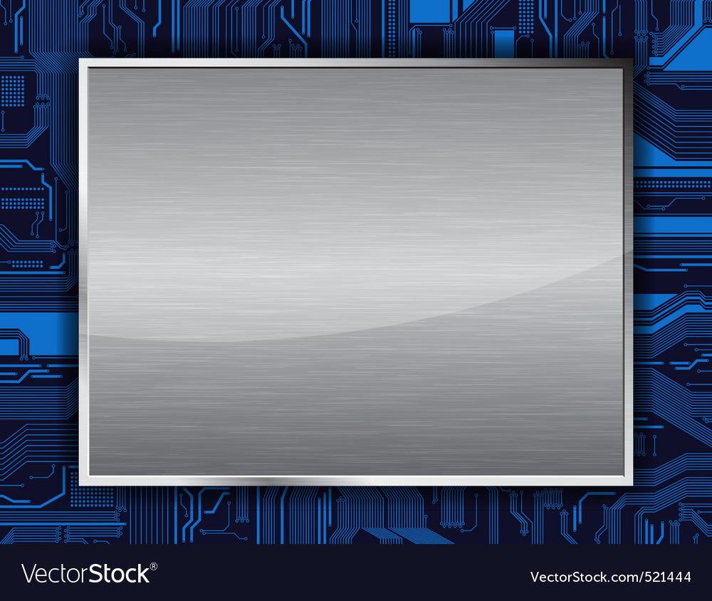 Metal banner vector | Price: 1 Credit (USD $1)