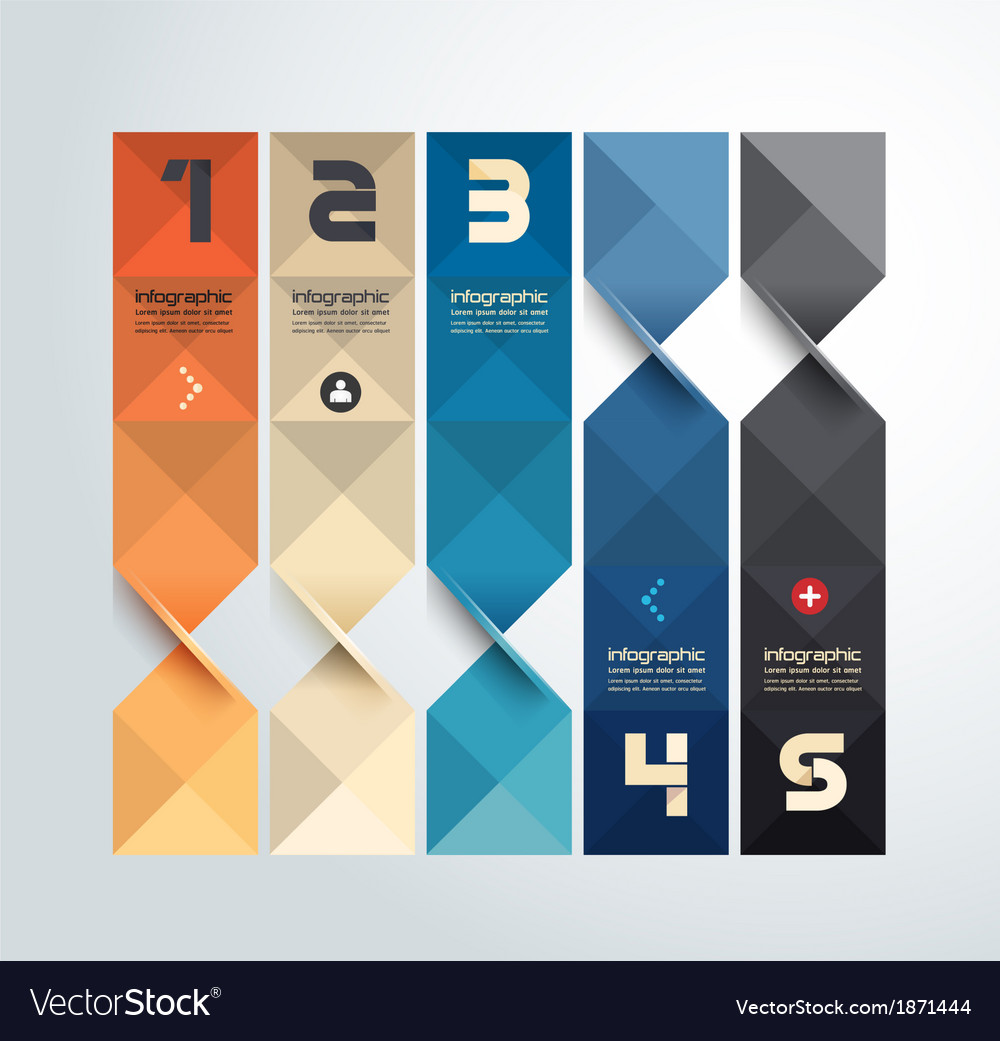 Modern geometric graph design infographic template vector | Price: 1 Credit (USD $1)