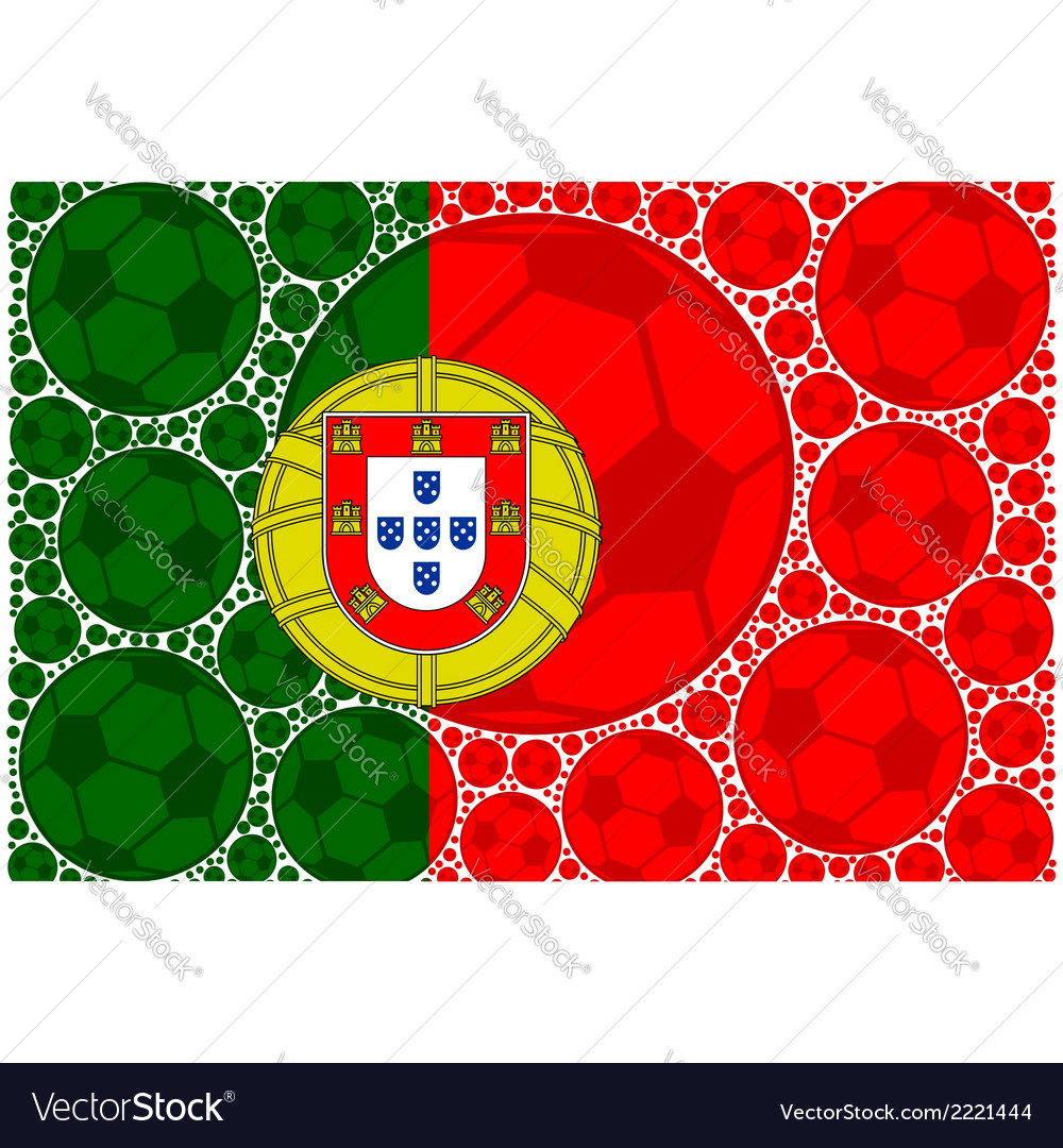 Portugal soccer balls vector | Price: 1 Credit (USD $1)