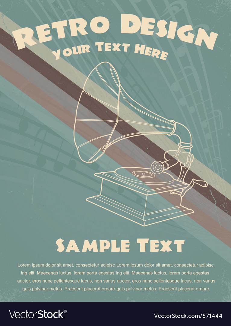 Retro music poster vector | Price: 1 Credit (USD $1)