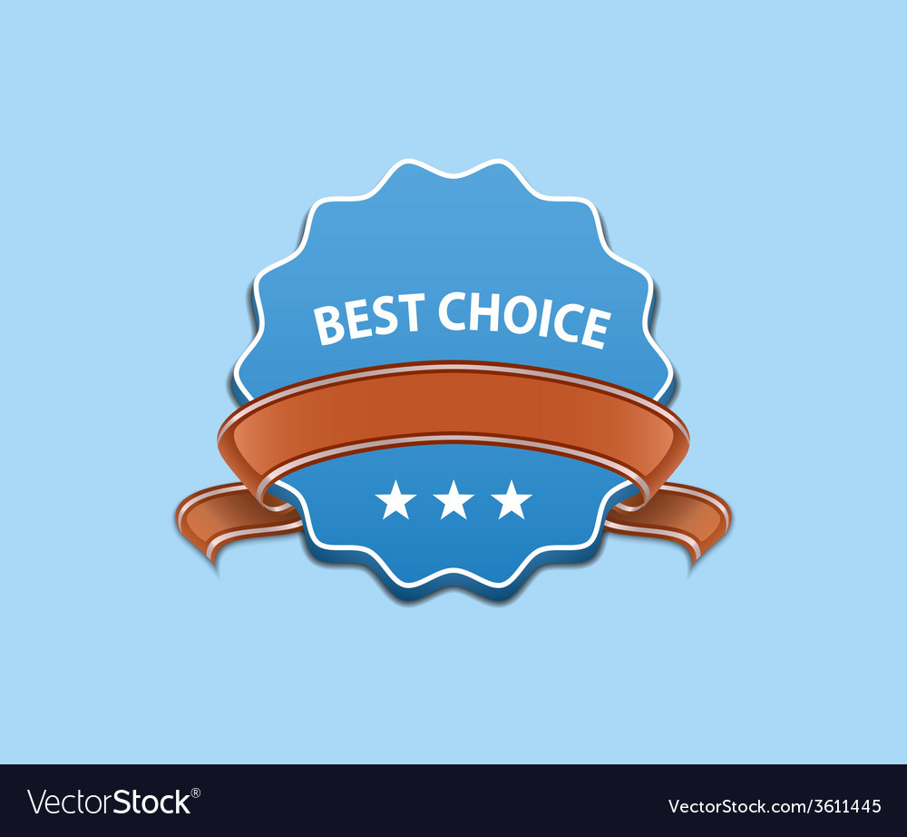 Best choice sign vector | Price: 1 Credit (USD $1)