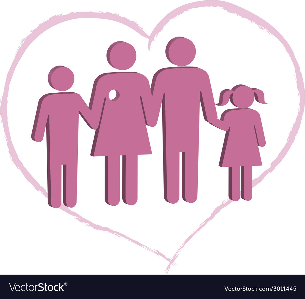 Breast cancer patient family support vector | Price: 1 Credit (USD $1)