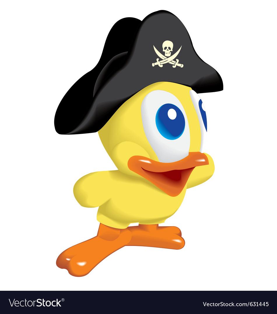 Duck pirat vector | Price: 1 Credit (USD $1)