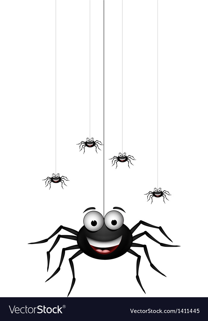 Funny family of spider cartoon vector | Price: 1 Credit (USD $1)