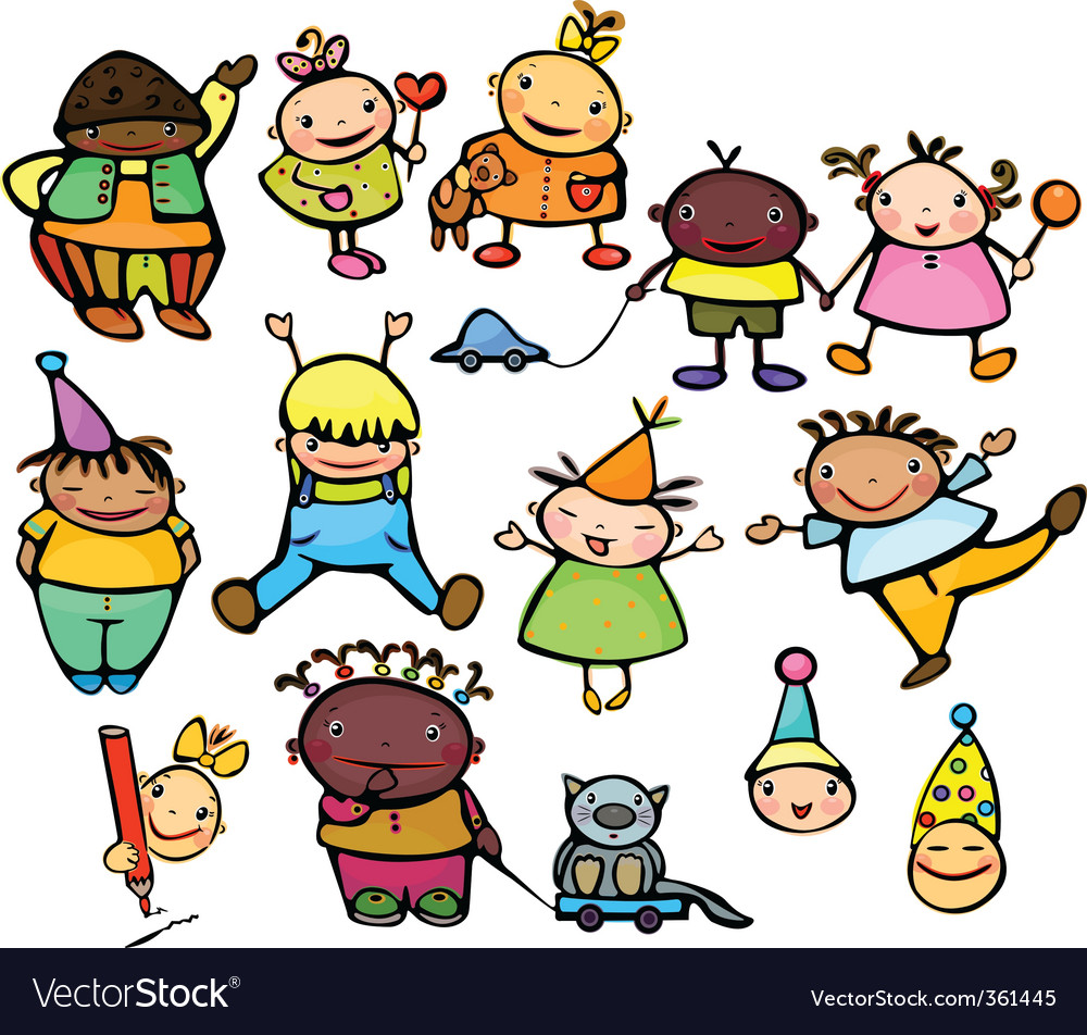 Happy kids vector | Price: 3 Credit (USD $3)