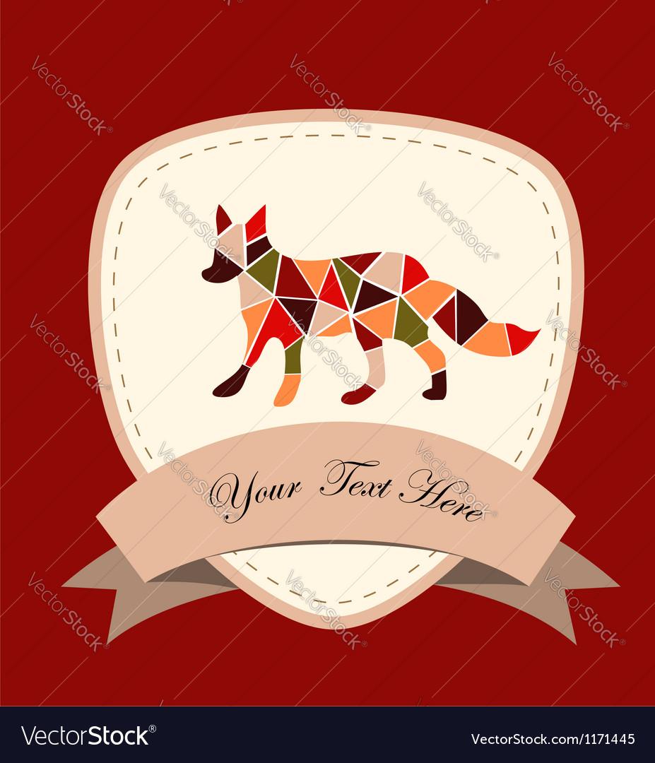 Mosaic fox vector | Price: 1 Credit (USD $1)