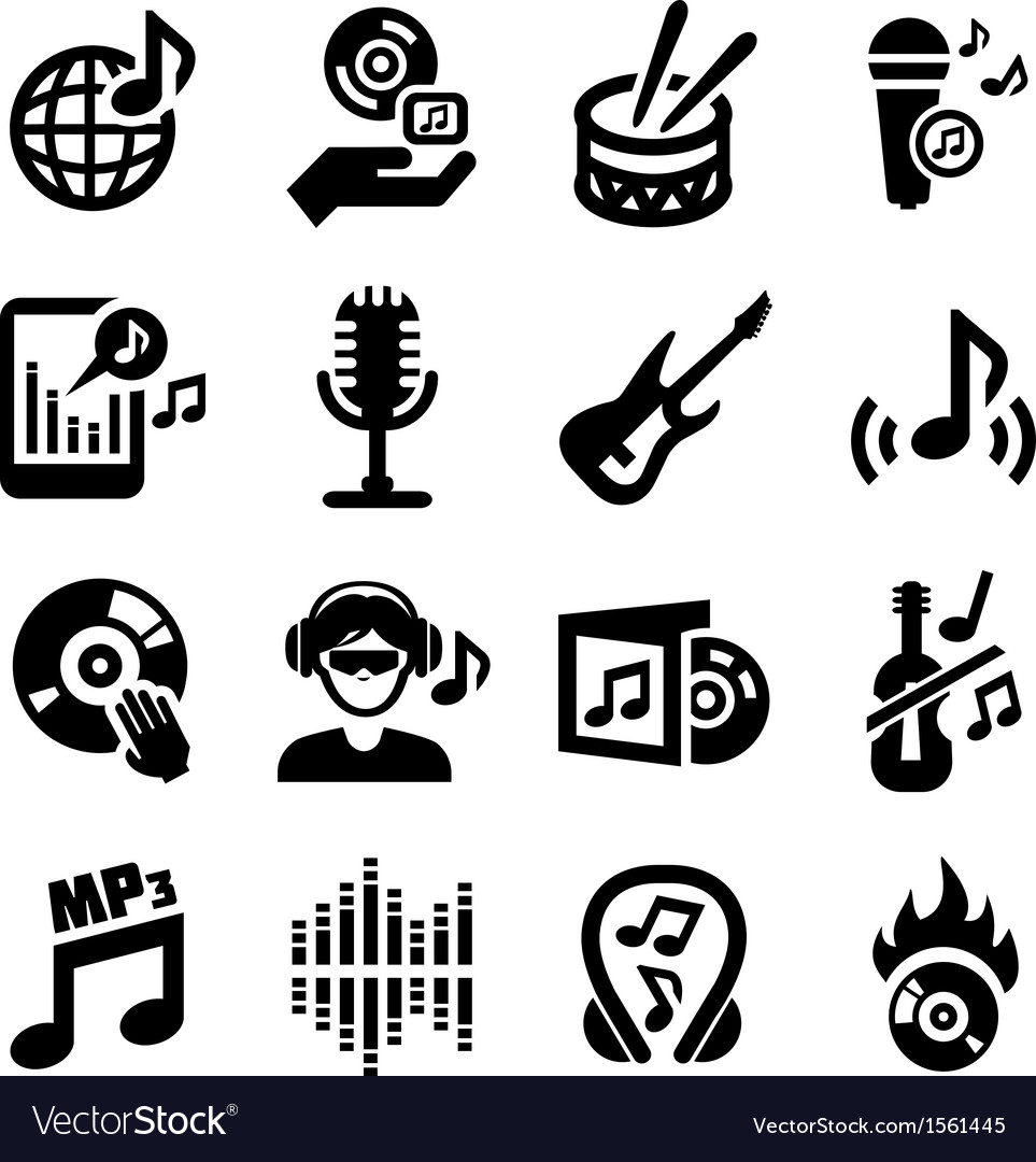 Music icons vector   Price: 1 Credit (USD $1)