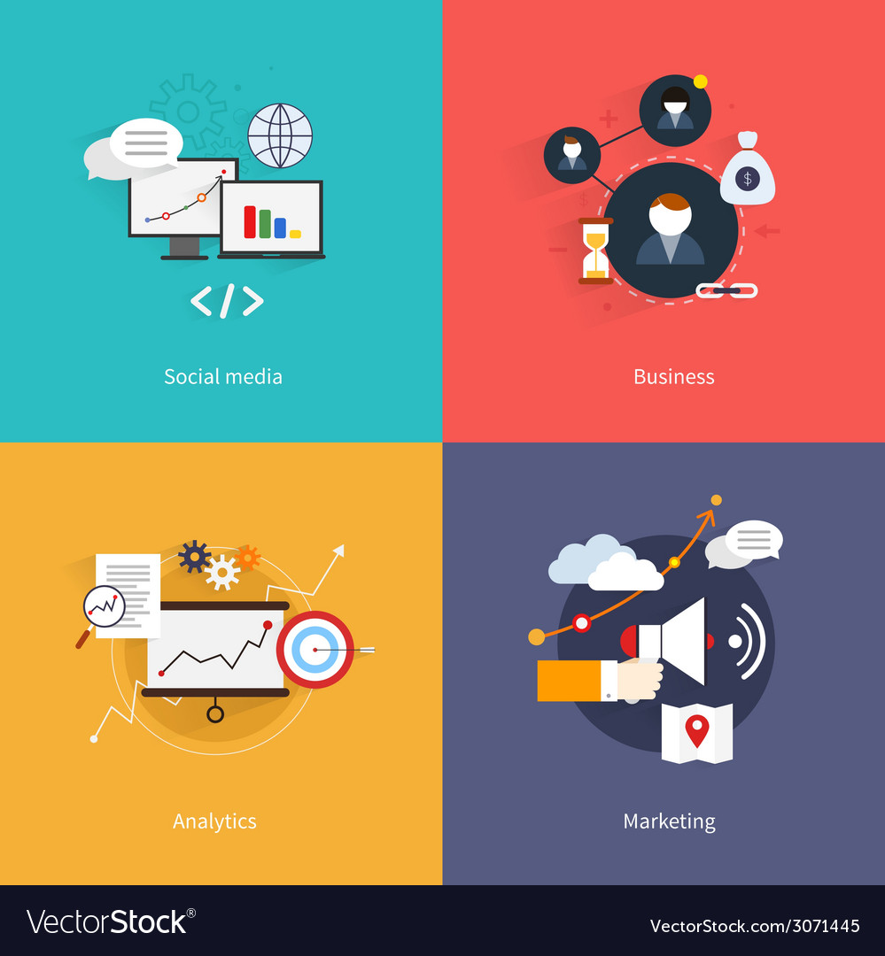 Seo marketing flat vector   Price: 1 Credit (USD $1)