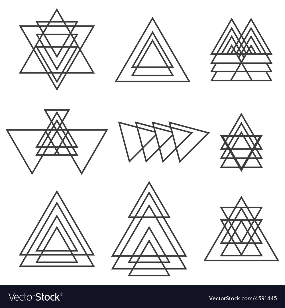 Set of geometric shapes trendy geometric icons vector | Price: 1 Credit (USD $1)