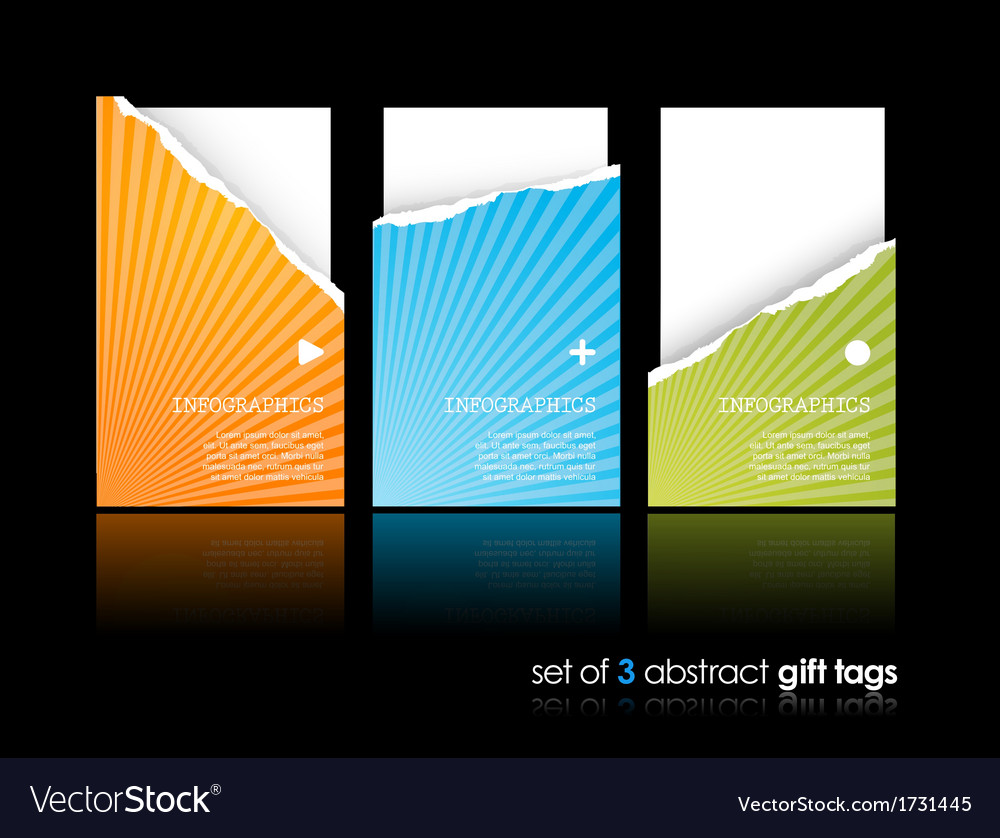 Set of teared gift cards vector | Price: 1 Credit (USD $1)