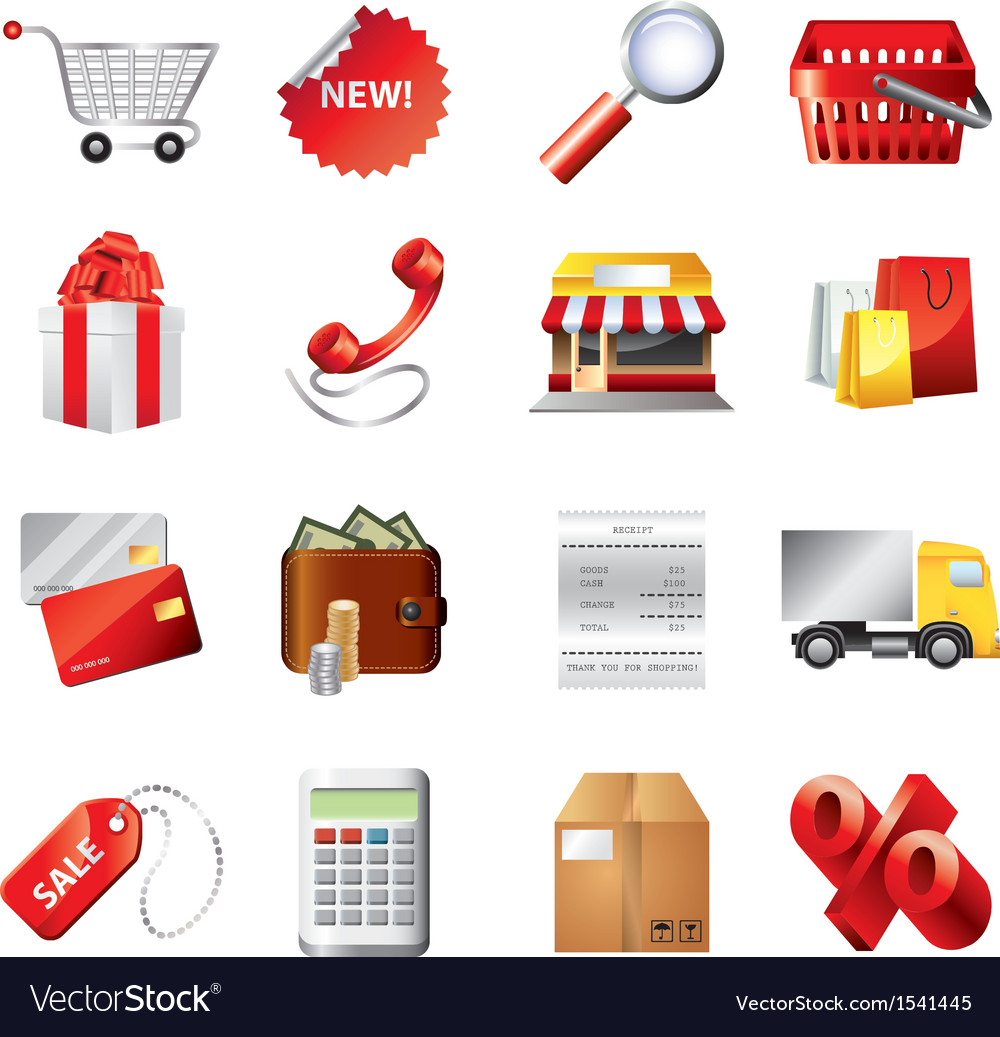 Shopping set vector | Price: 3 Credit (USD $3)