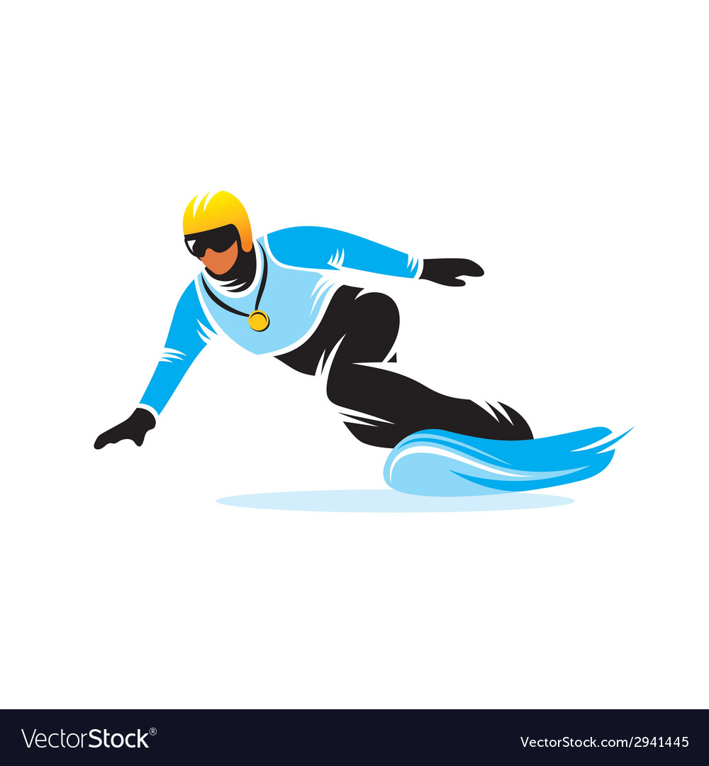 Snowboarding sign vector | Price: 1 Credit (USD $1)