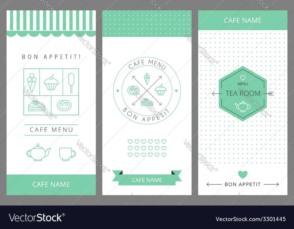 Tea room business card template vector   Price: 1 Credit (USD $1)