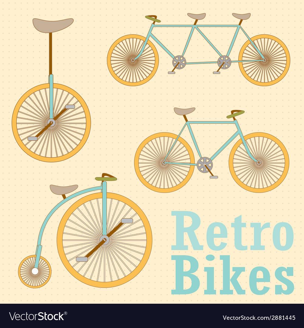 Vintage retro bicycle vector | Price: 1 Credit (USD $1)