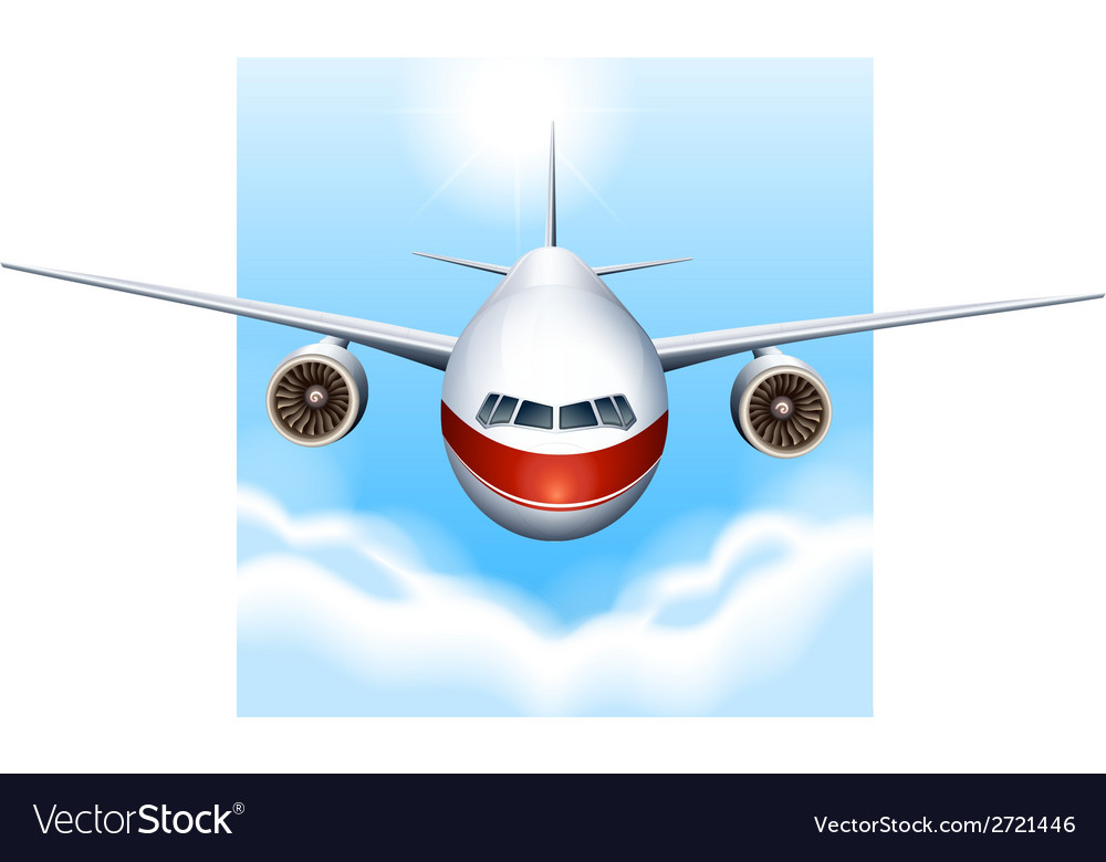 A plane in the sky vector | Price: 1 Credit (USD $1)