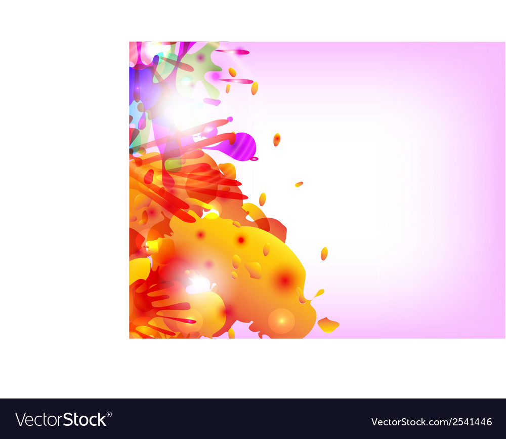 Abstract hand made watercolor splashes vector | Price: 1 Credit (USD $1)