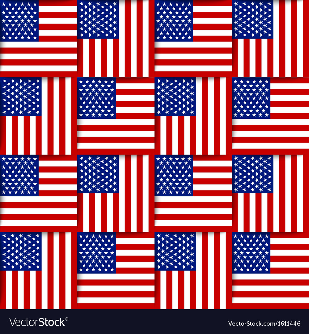 American seamless pattern vector | Price: 1 Credit (USD $1)