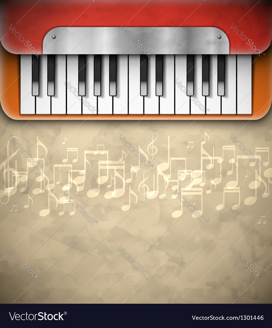 Background with piano vector | Price: 3 Credit (USD $3)