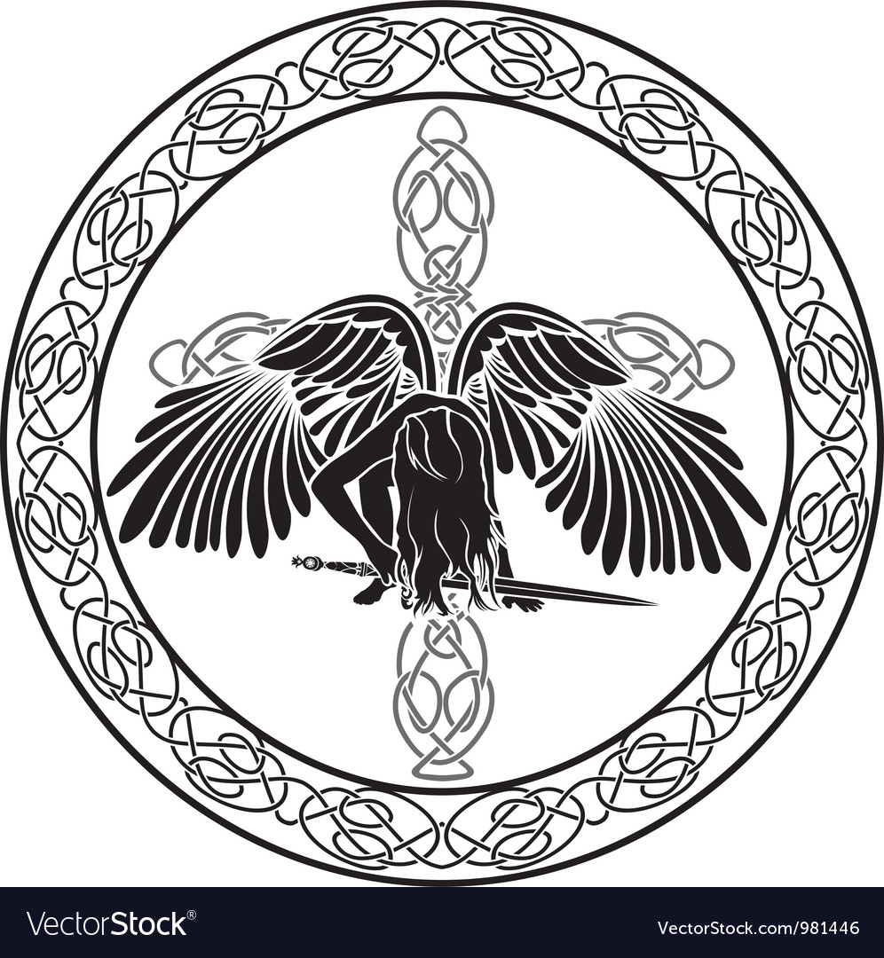 Celtic angel vector | Price: 1 Credit (USD $1)