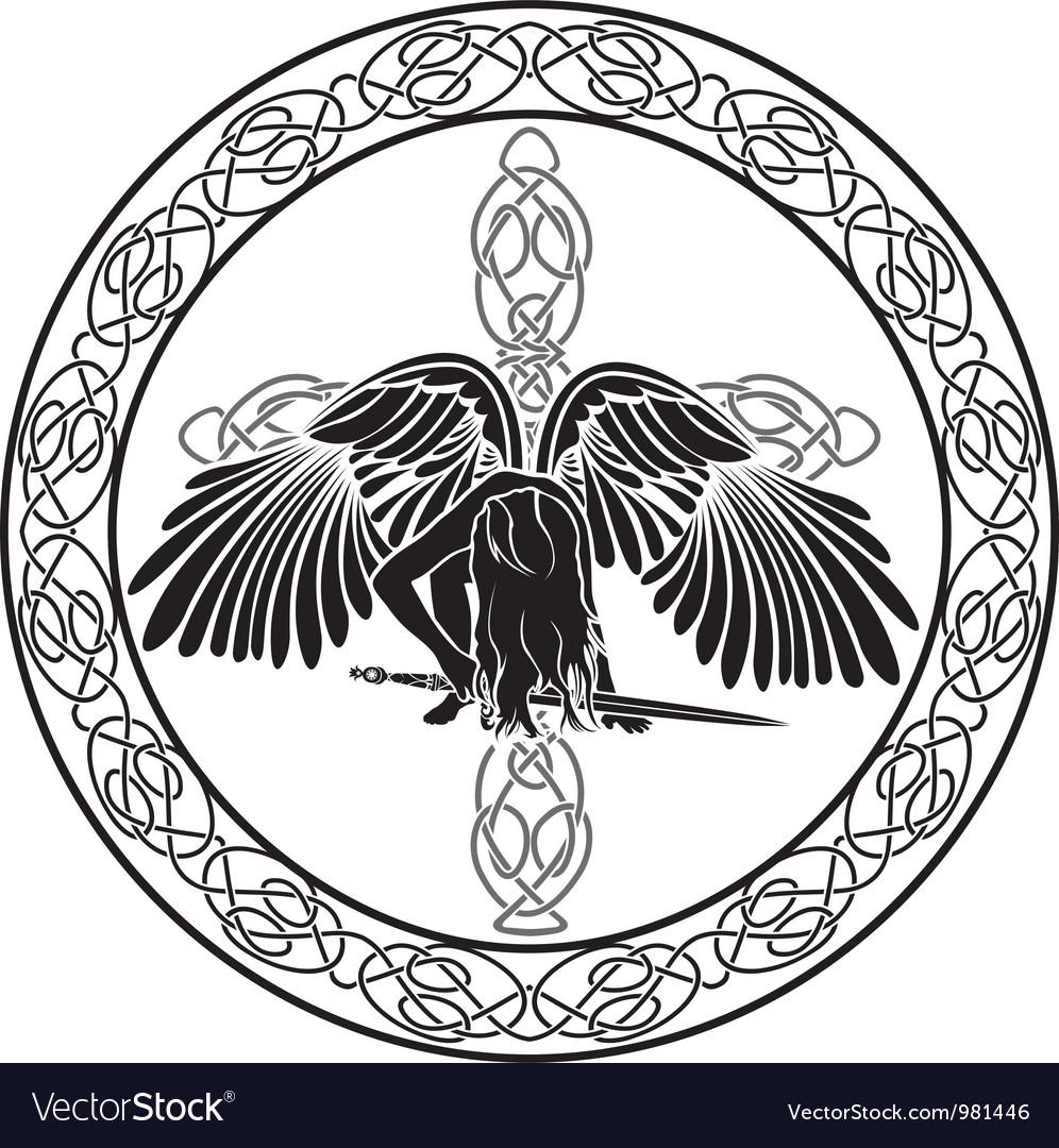 Celtic angel vector | Price: 1 Credit (USD $1)
