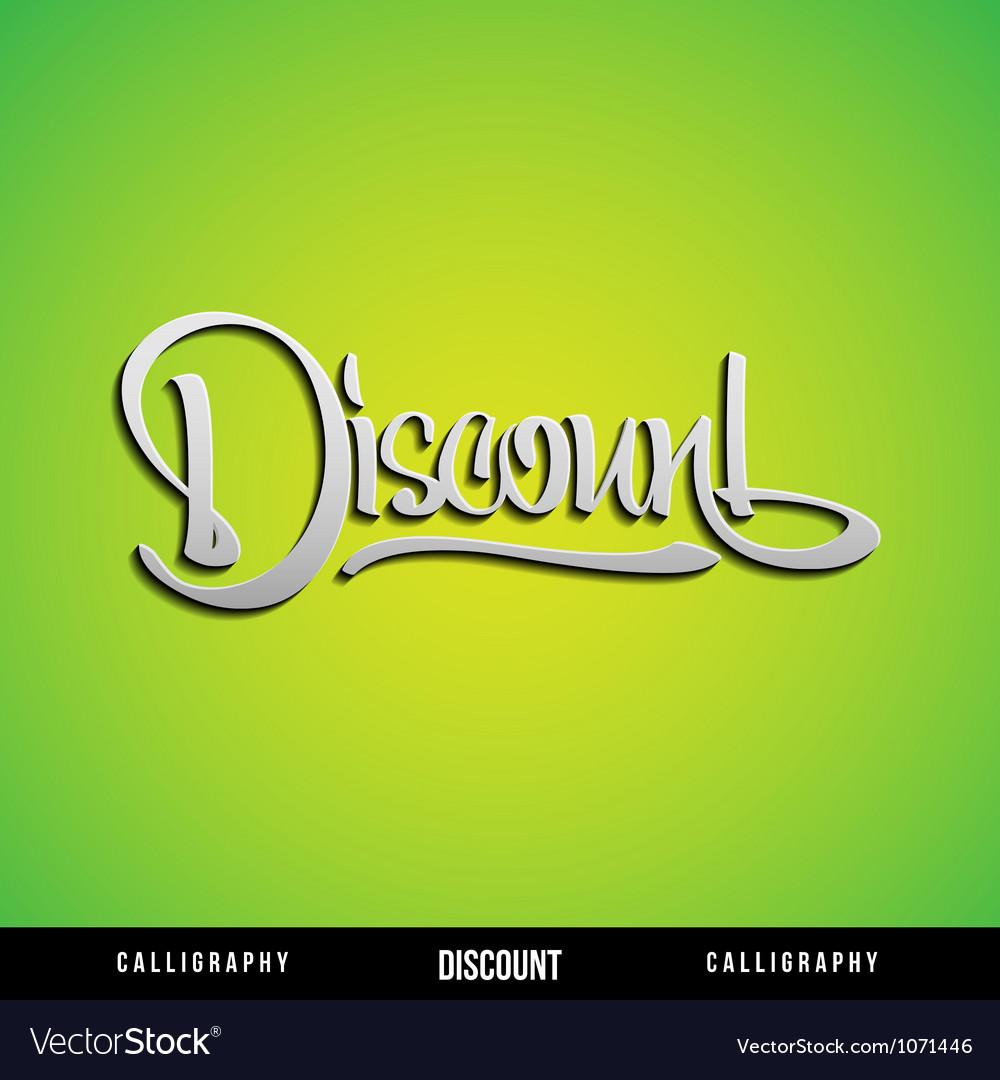 Discount lettering vector | Price: 1 Credit (USD $1)