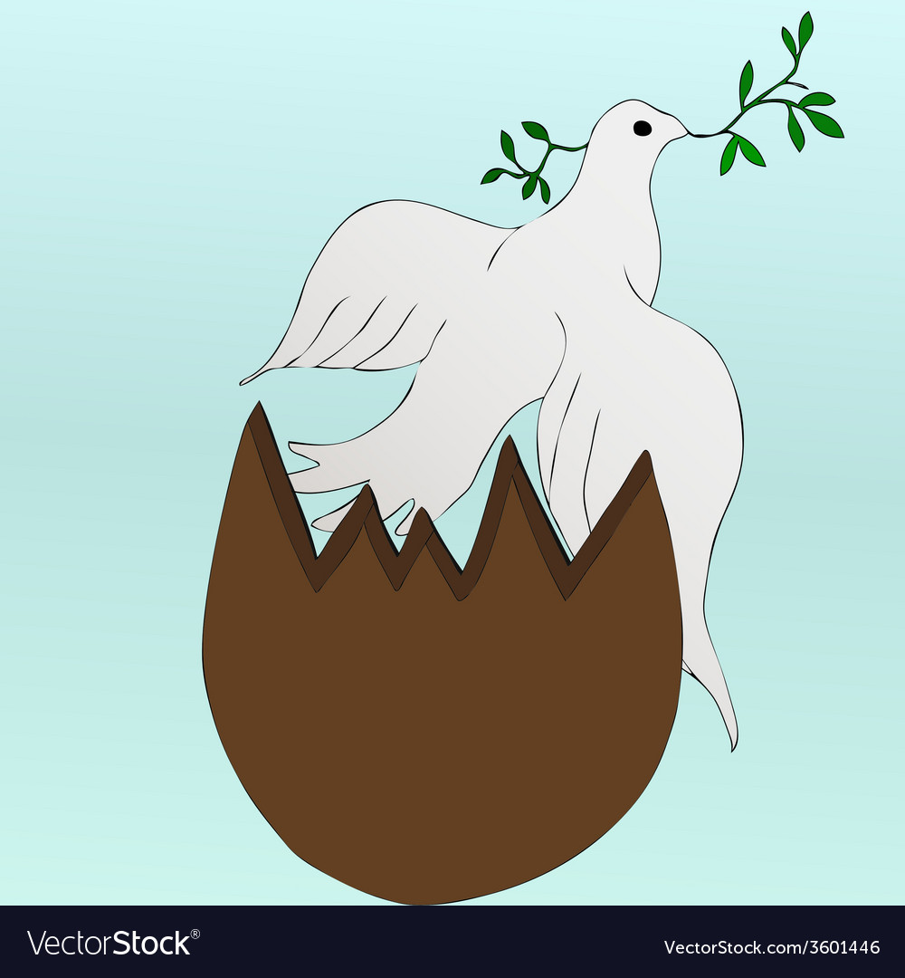 Easter dove vector | Price: 1 Credit (USD $1)