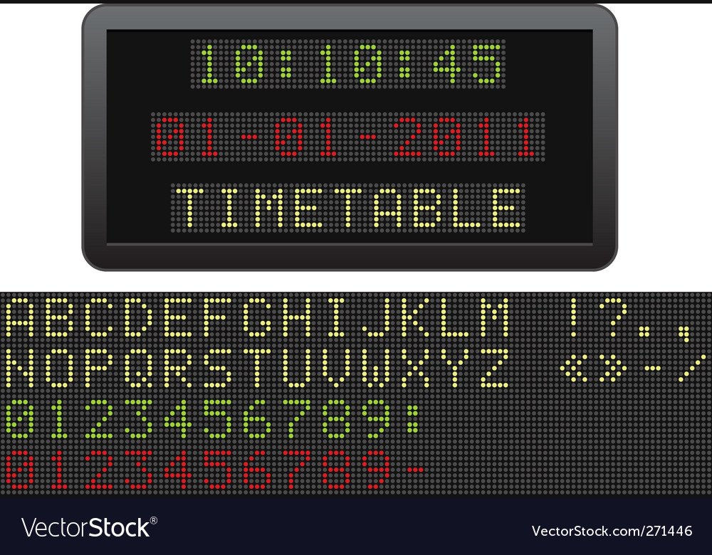 Electric timetable vector | Price: 1 Credit (USD $1)
