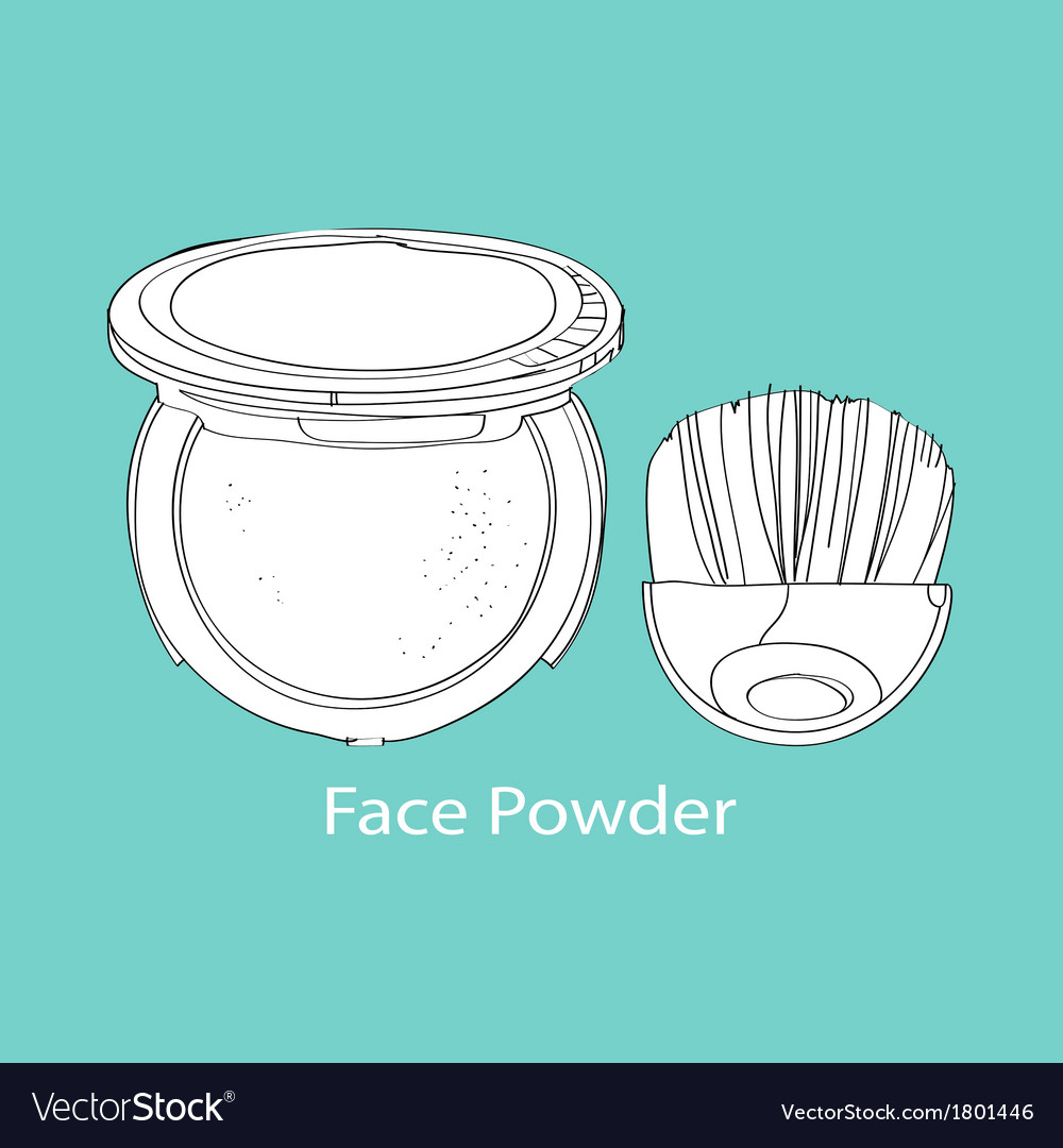 Face powder and brush vector | Price: 1 Credit (USD $1)