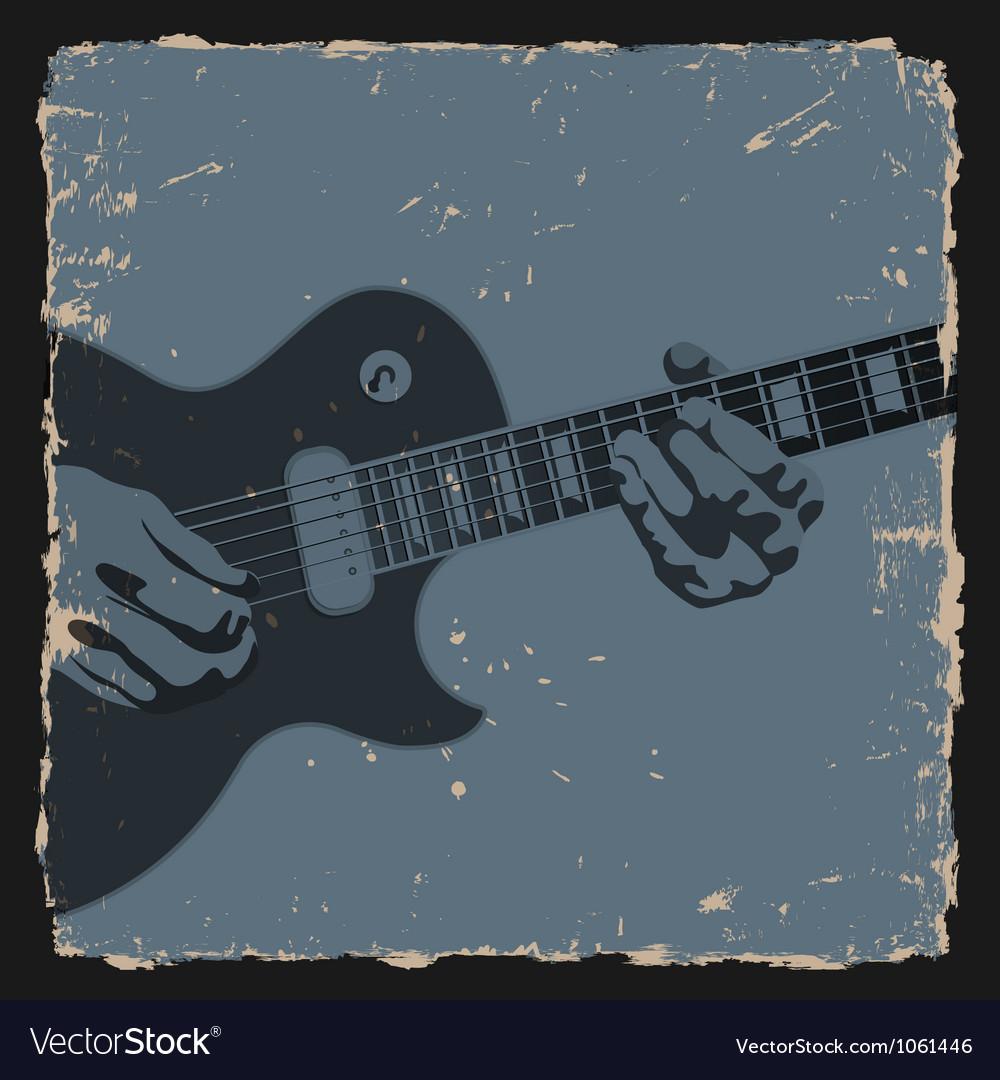 Guitar player vector | Price: 1 Credit (USD $1)
