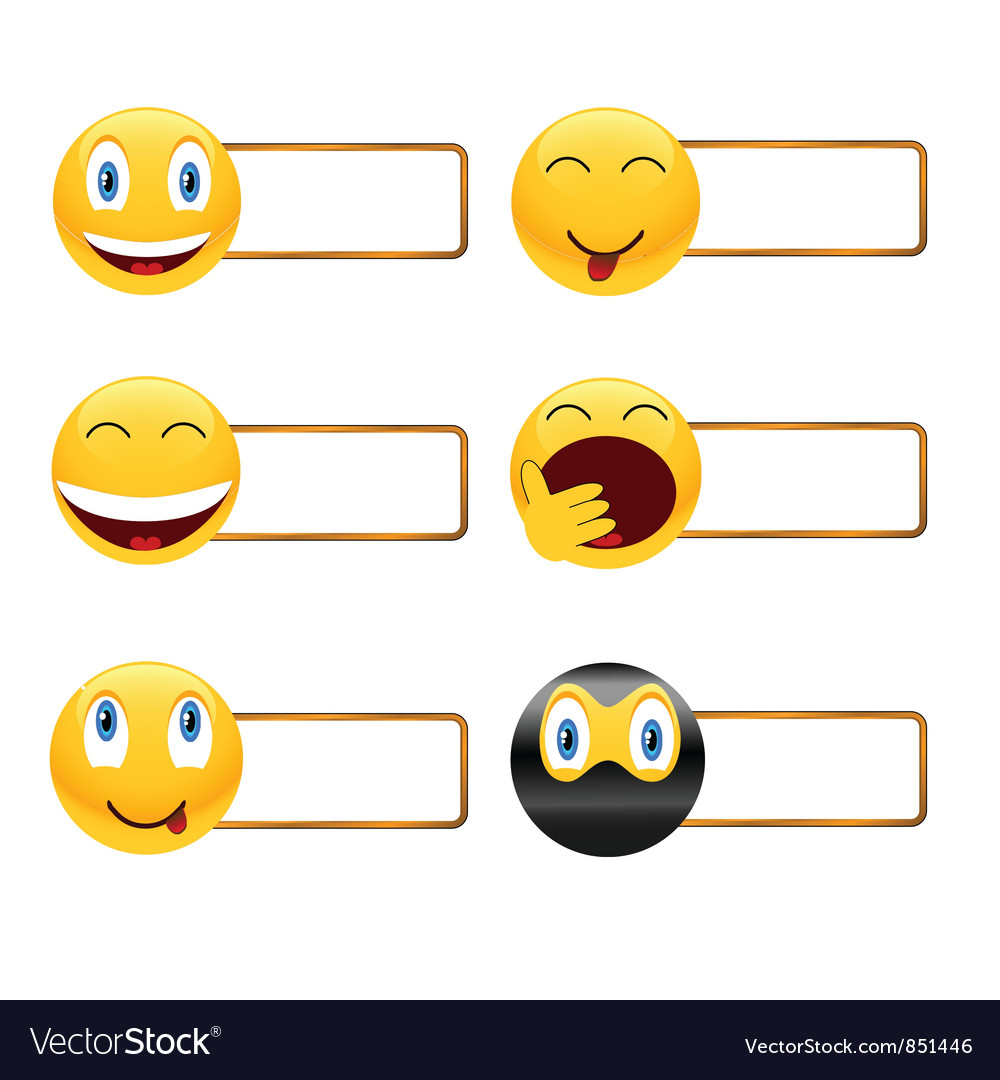 Icons of smiles with a framework vector | Price: 1 Credit (USD $1)