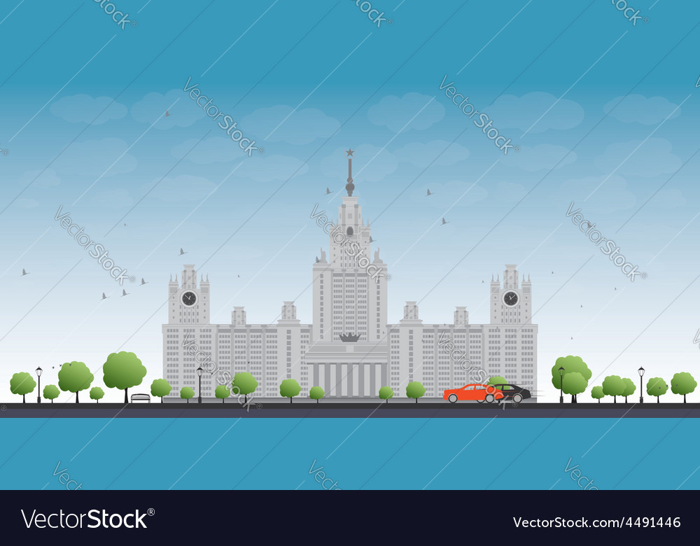Mgu moscow state university moscow russia vector | Price: 3 Credit (USD $3)