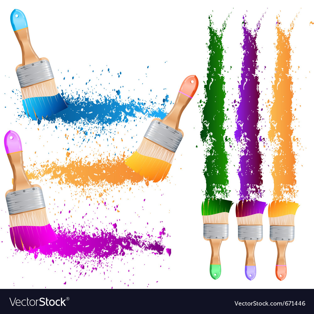 Painting brushes vector | Price: 1 Credit (USD $1)