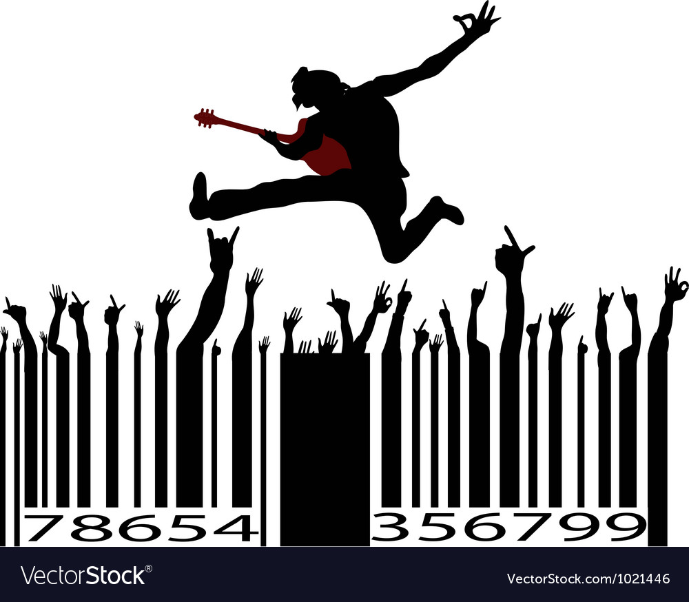 Rock music bar code vector | Price: 1 Credit (USD $1)
