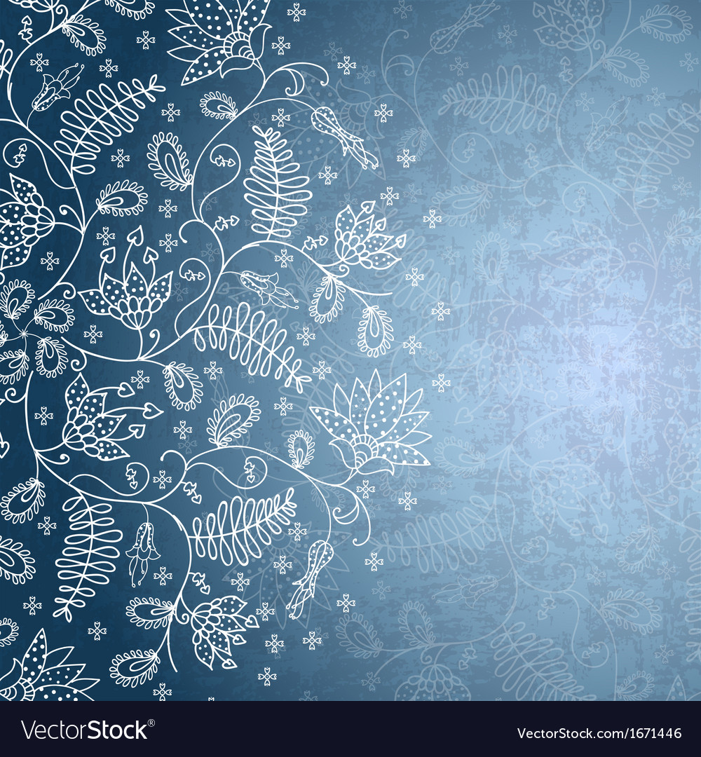 Winter background with snowflake flower vector | Price: 1 Credit (USD $1)