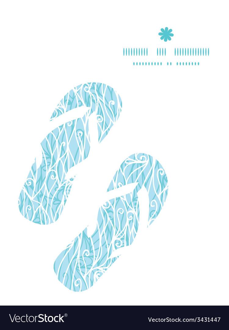 Abstract frost swirls texture flip flops vector | Price: 1 Credit (USD $1)