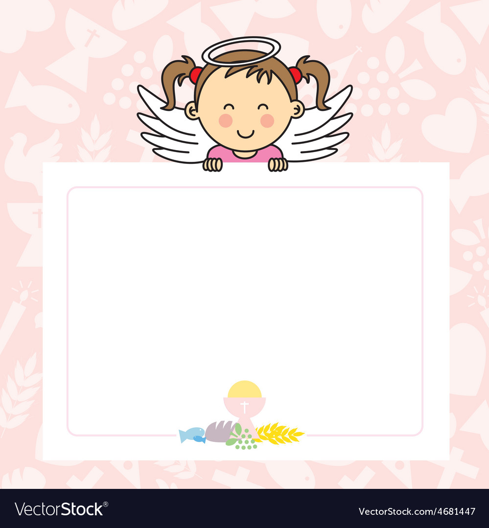 Baby girl with wings vector | Price: 1 Credit (USD $1)